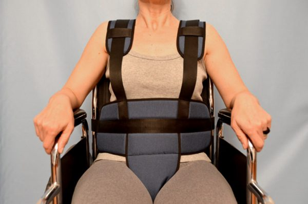 2103- Strapped Seat with Pelvic Restraining Belt 􀀀